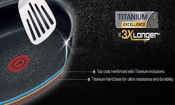 CHẢO TEFAL TITANIUM 28CM - HS024TEFA0302FR00